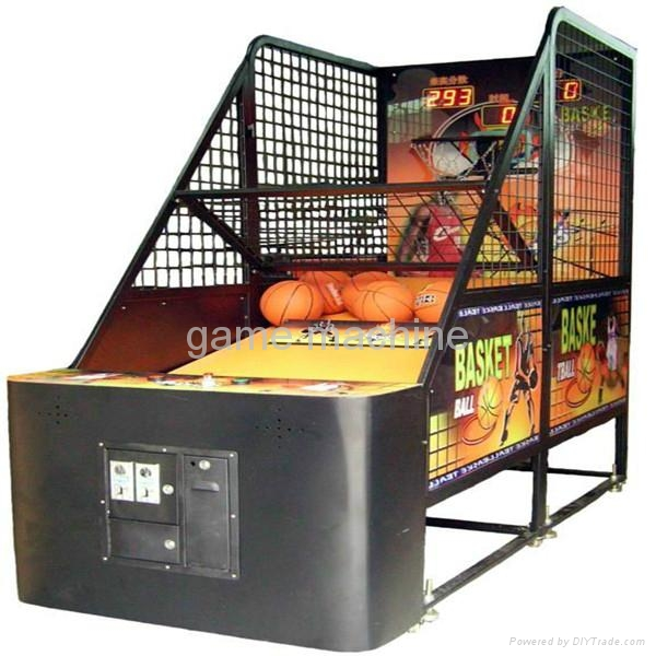 Street Basketball Coin Operated Basketball Game Machine