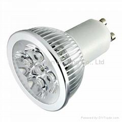 90V-260V AC GU10 base 4 watt LED spotlight bulb