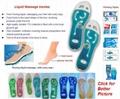 Liquid foot massage insoles