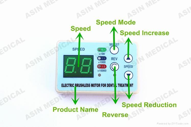 24V dental unit built-in Brushless Electric Micro motor LED handpiece fit NSK  2