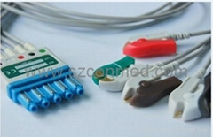 For Philips Lead sets for M2601B transmitters,Patient Monitor ECG cable (Hot Product - 1*)