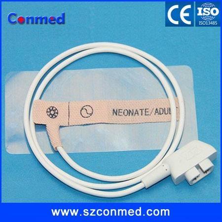 CSI disposable spo2 sensor/probe for neonate,DB 6pin, non-woven 2