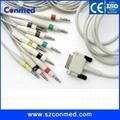 廠家直銷M3703C飛利浦心電圖機線,10導心電導聯線,美標,醫療線材,20K電阻 1
