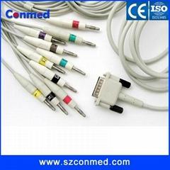 厂家直销M3703C飞利浦心电图机线,10导心电导联线,美标