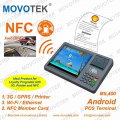 Movotek Android POS Terminal with RFID QR code Reader 3G WiFi