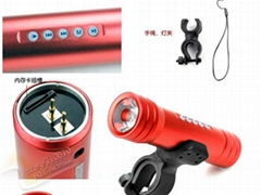 Music Sport Speaker for bicycle with LED torch Flashlight