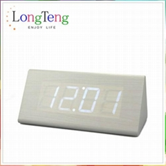LED Wood Clock & Digital Desk Clock & Creative Wooden Alarm Clock For Promotion