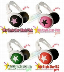 Big star earphone for mobile phone mp3 Popular fashion Mix Style headphone