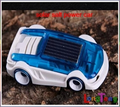 Green eco-friently creative solar car brine salt power track car Children toys