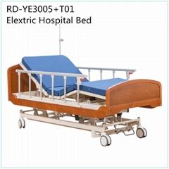 實木床頭尾板五功能多功能電動病床 電動調節護理床