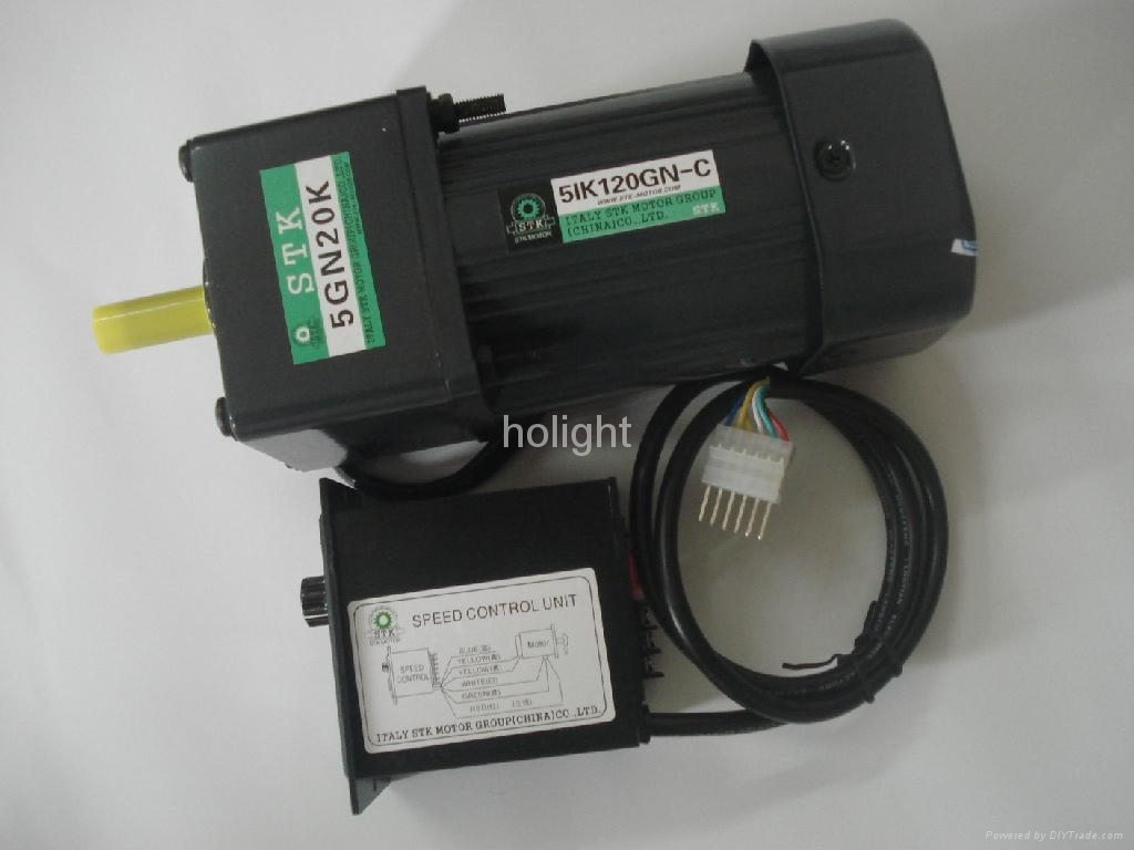 25w single phase induction motor with gear box and us 52 for Single phase ac motor control