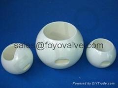 V-Port Ceramic Ball Valves for Liquid Chlorine Slurry