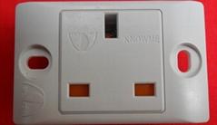 一位簡易帶安全門英標工業插座