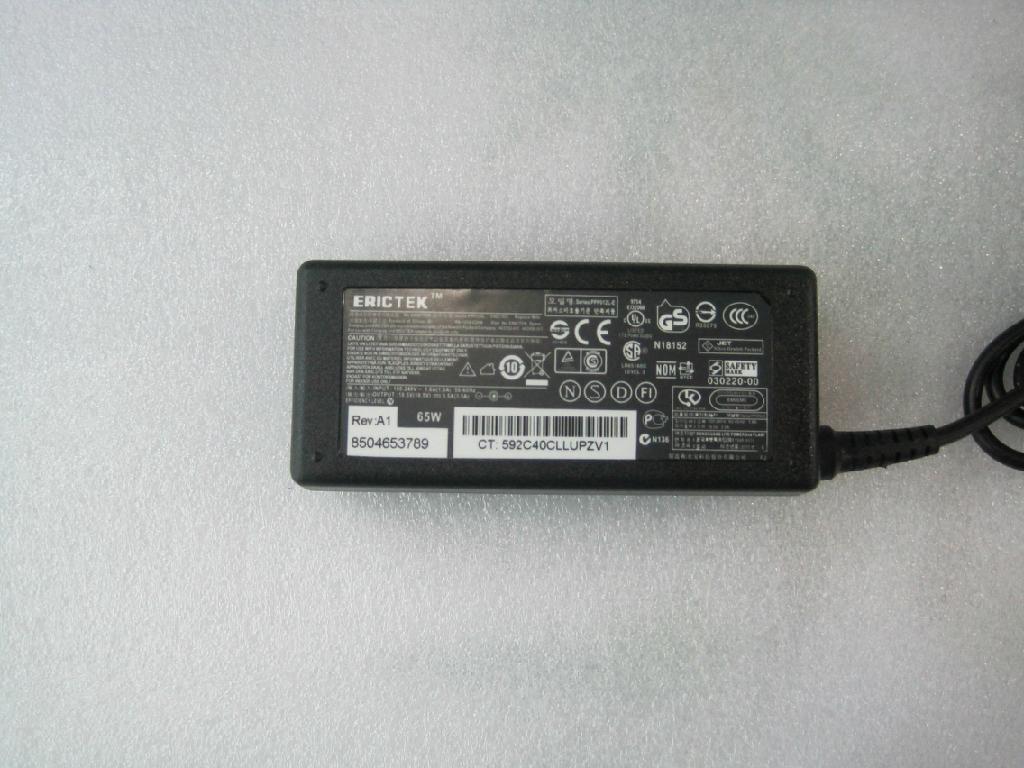 惠普18.5V3.5A (4.8*1.7)小黃口 筆記本電腦充電器 1