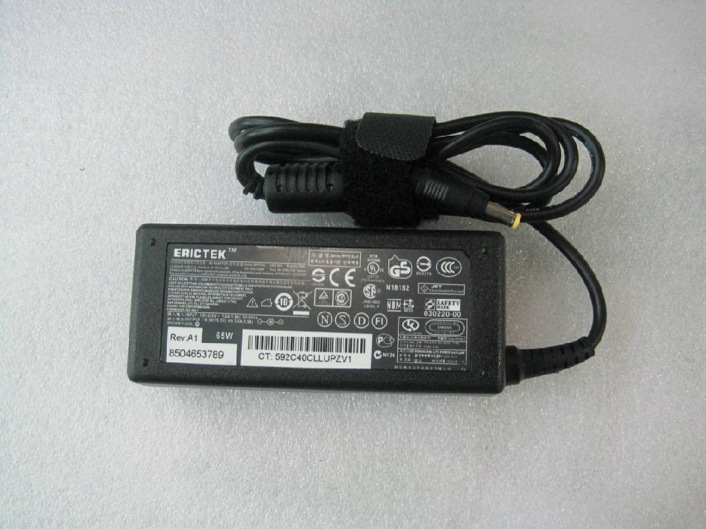 惠普18.5V3.5A (4.8*1.7)小黃口 筆記本電腦充電器 2