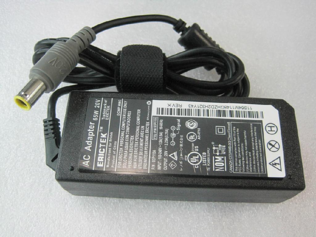 聯想IBM LENOVO 筆記本電源適配器 20V3.25A 65W  4