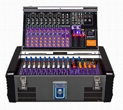 PS-1200LX 12-Ch Unique Foldback LED Mp3 Display and Record Power Mixer