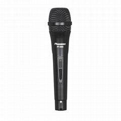 PT-865 Black Flat Grill Painting Plastic Wired Microphone