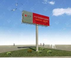 钢结构高炮广告牌