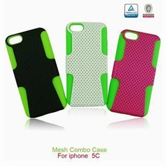 Mesh Combo 2-in-1 PC+Silicone Cover for Apple Samsung LG Sony Nokia etc