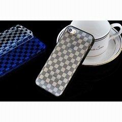 Squares Pattern Semipermeable Soft TPU Case for iPhone 5/5S, with Dust Plug