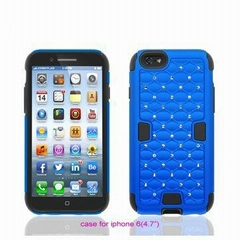 Super Stars Bling Combo Silicone PC Back Case Cover for iPhone 6/4.7""