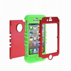 Microphone 3-in-1 Combo Silicone PC Back Case Cover for iPhone 6/4.7""