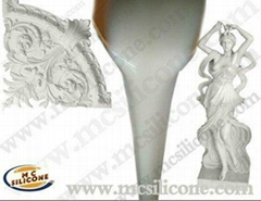 Concrete decoration molds making silicone rubber RTV-2