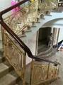 Outdoor Stainless steel spiral handrail stair Luxury interior stair guardrail
