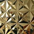 China Wall Decoration panel 3D stamped Stainless Steel Sheet supplier