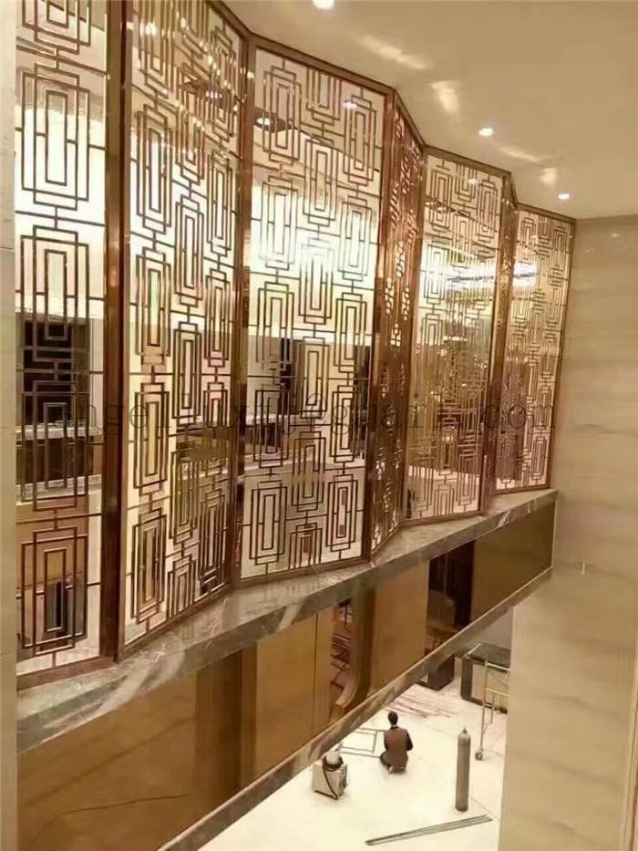 hotel project stainless steel room divider modern design decoration screen - Stainless Steel Hotel Design