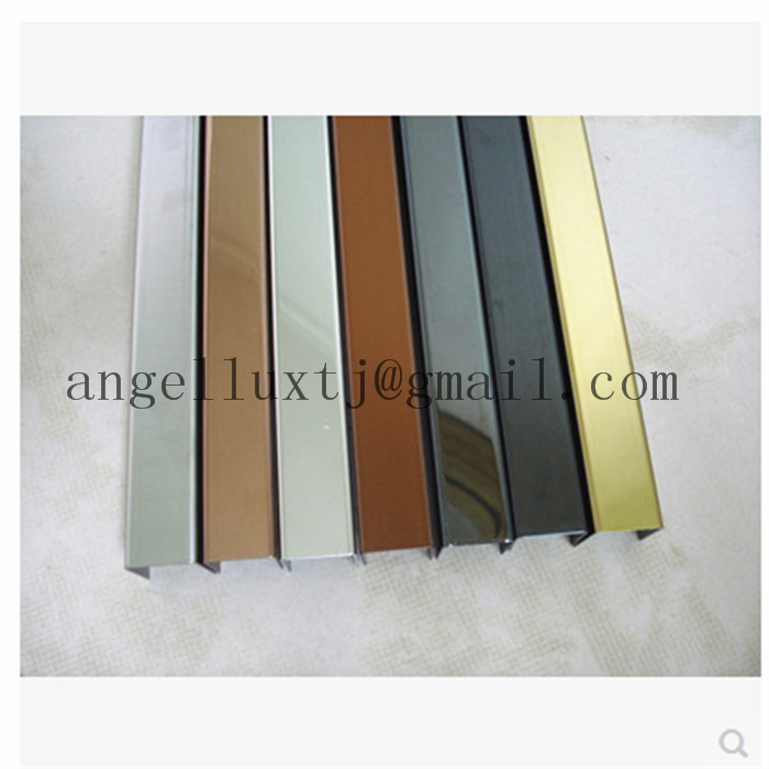 Stainless Steel profile U-channel edge wall protection