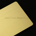 Wholesale No.4 short satin hairline finish stainless steel golden color sheets