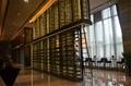 High-class custom hotel furniture stainless steel display rack showcase shelves