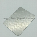 China factory embossed decorative stainless steel sheets with color or non color