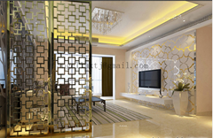 Home furniture stainless steel art screen partition room divider window screen