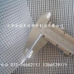 1毫米厚阻燃透明夾網布