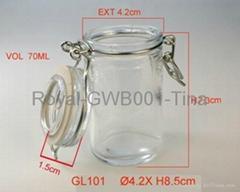 glass samll bottle