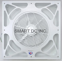 Drop grid ceiling fan