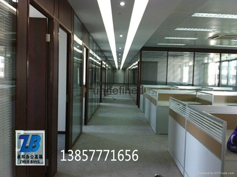 温州玻璃百叶办公室隔断墙 2