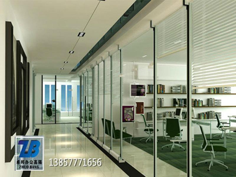 温州内置百叶办公室玻璃隔断墙办公隔墙高隔间 2