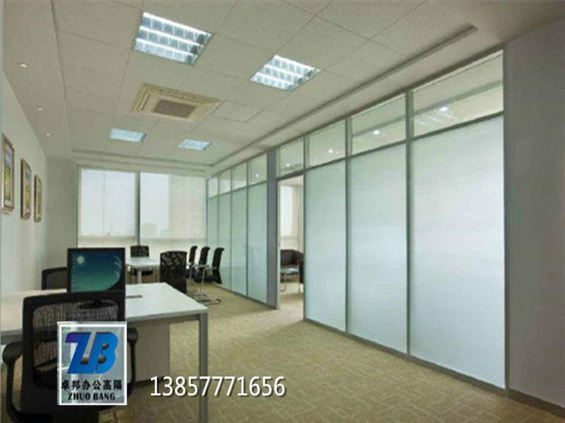 温州内置百叶办公室玻璃隔断墙办公隔墙高隔间 4