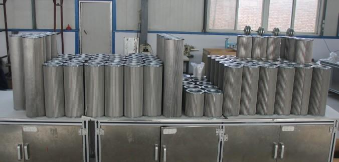 Stainless steel pleated filter elements sintered metal filter cartridge 4