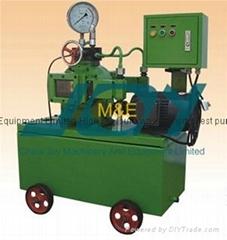Automatic hydraulic pressure test pump with pressure recorder