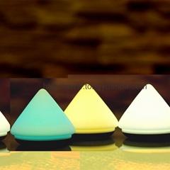 新款創意錐形拍拍燈家居溫馨USB充電電池減壓七彩硅膠小夜燈