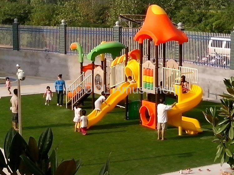 Outdoor Plastic Playground Slide For Sale Tct036