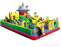 Children's Playground Castle Balloon Slide and Bouncer Play Center