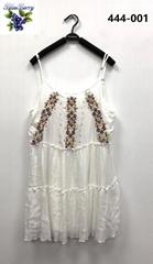 Rayon Crepe Emb Short Dress
