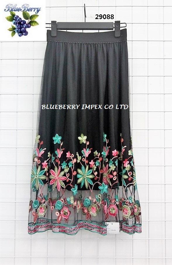 Mesh Emb Skirts  2