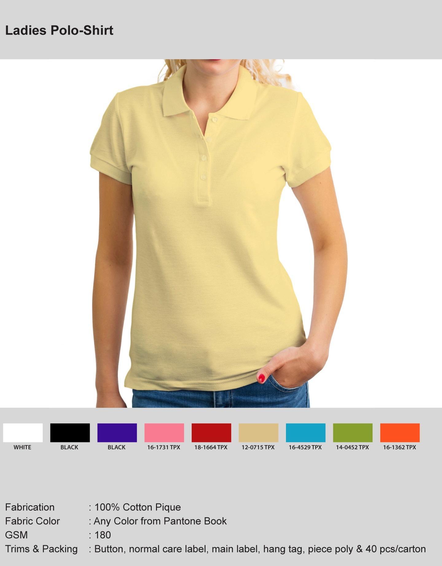 Ladies Polo T-shirts  1